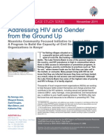AIDSTAR-One Case Study Addressing HIV and Gender from the Ground Up in Kenya