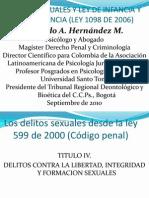 Delitos Sexuales y Ley de Infancia y Adolecencia