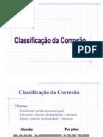 ClassificaçãoCorrosão