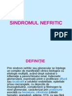 sindromul nefritic