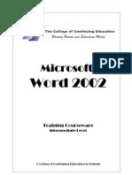 MS Word 2002 Level 2