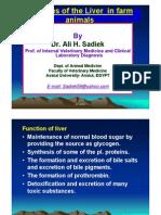 Hepatic problems in farm animal by Prof. Ali sadiek