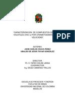 CARACTERIZACION DE COMPUESTOS ORGÁNICOS