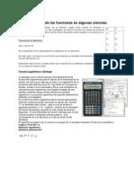 Aplicación de las funciones en algunas ciencias