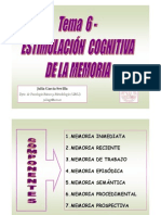 Estimulacion Cognitiva de La Memoria.