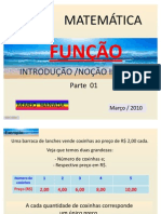 FUNÇÕES - INTRODUÇÃO-NOÇÃO INTUITIVA - parte 01