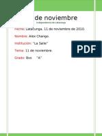11 de Noviembre In Depend en CIA de Latacunga