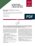 Leander J. Valdes III et al- Salvinorin C, a New Neoclerodane Diterpene from a Bioactive Fraction of the Hallucinogenic Mexican Mint Salvia divinorum
