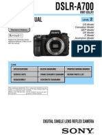 Sony DSLR-A700 Lvl2 Service Manual