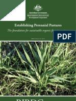 ORGANIC Establishment of Perrennial Pastures