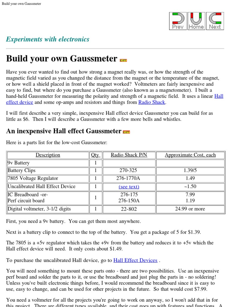 298b642f555 Build Your Own Gaussmeter