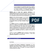 Introducción de programa monica version 8.5