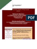 "DRC ""Brown Bag"" Lunch Seminar - Multi Partial Mediation"