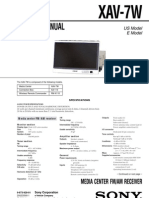 sony xav-7w Service Manual and Schematic