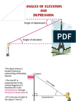 10.0 Angles of Elevation and Depression