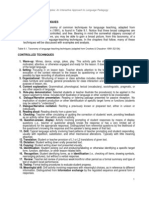 3.2 a Taxonomy of Techniques - H. Douglas Brown