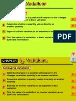 5.0 Variations