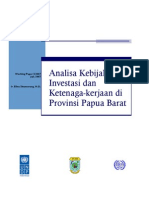 Working Paper of Employment Policy Review Papua Barat