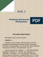 Bab-3 Peluang Bersyarat Dan Kebebasan