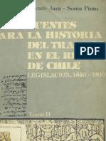 Fuentes para la historia del trabajo en el Reino de Chile. Legislación 1546-1810. T.II.
