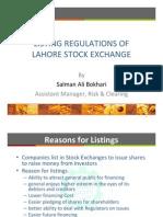 Listing Regulation Lahore Stock Exchange