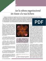 Como Cambiar La Cultura Organizacional