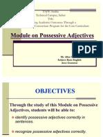 Module Possessive Adj. Lesson 3