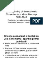 The Beginning of the Economic Romanian Journalism Mercury
