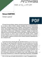 Roland Barthes - Śmierć autora