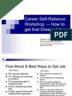 Career Self Reliance