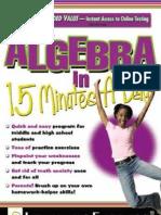 Algebra 15 Min a Day