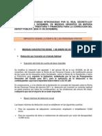 Últimas novedades tributarias (RDL 20/2011)