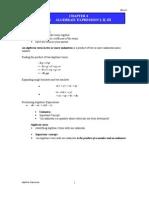 Chapter 4.1 Algebraic Expression ENRICH