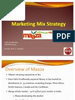 Maaza Marketing Mix Strategy