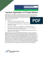 General Application of Printed Motors
