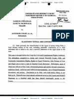 Plaintiffs' Initial Disclosures in Rights Case