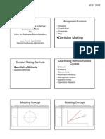 Quantitative Methods in Social Sciences