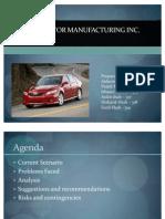 Toyota Motor Manufacturing Inc