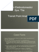 Merloni Transit Point Analysis