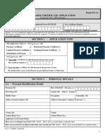 Form FCA1
