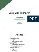 Basic Bloomberg API-200610