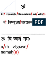 108 Names of Lord Vishnu SRS+Devnag Red