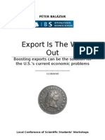 Export is the Way Out - Peter Balazsik