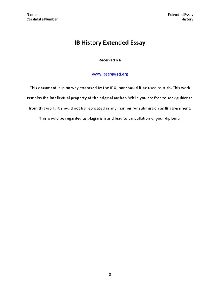what is extended essay