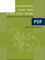 Ensaio Sobre o Ensaio - Orlandolopes - Ppgl Dll Ufes