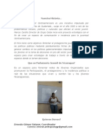"""Parlamento Juvenil de Nicaragua"""