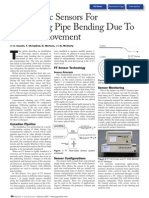 Fiber-Optic Sensors for Bending Moment Pipe