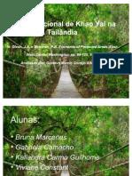 Parque Nacional de Khao Yai na Tailândia trab. ec. Amb. des. Sust.
