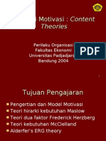 4.Teori Motivasi Content Theories