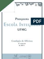 Cardápio de oficinas PEI - UFMG